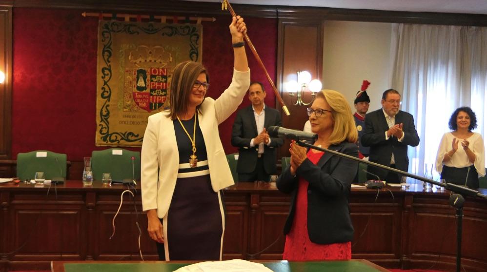 Noelia Posse el día de su investidura. (Foto. Móstoles)