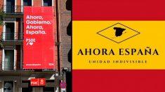 La sede del PSOE en Ferraz con su lema de campaña y la asociación cultural con el mismo nombre.