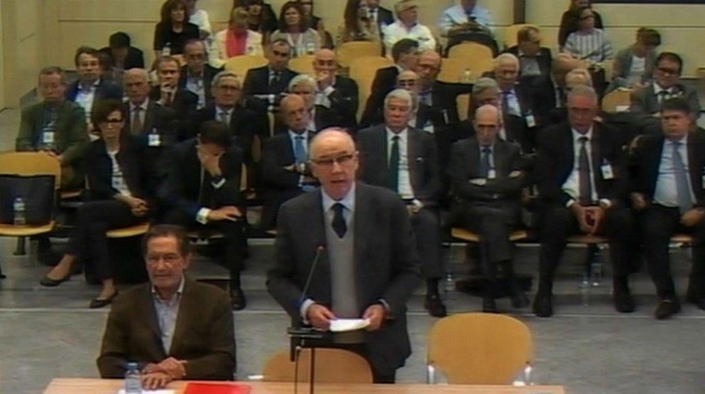 Rodrigo Rato, este martes en la sede de la Audiencia Nacional