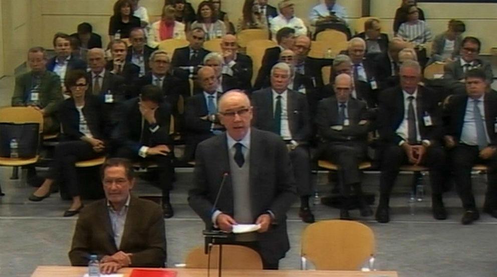 Rodrigo Rato durante el juicio en la sede de la Audiencia Nacional.