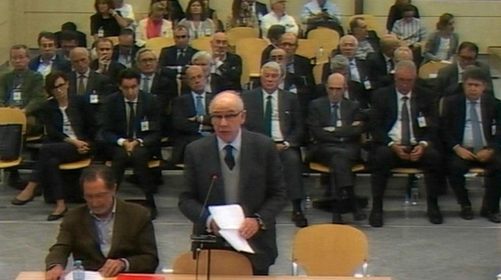 Rodrigo Rato y el resto de acusados por la salida a bolsa de Bankia
