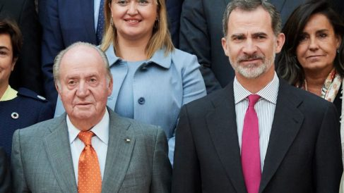 Juan Carlos I y Felipe VI @Getty