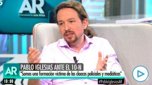 Pablo Iglesias en el programa de Ana Rosa.