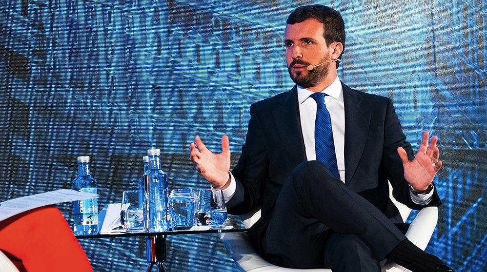 Pablo Casado en una charla. (Foto. PP)
