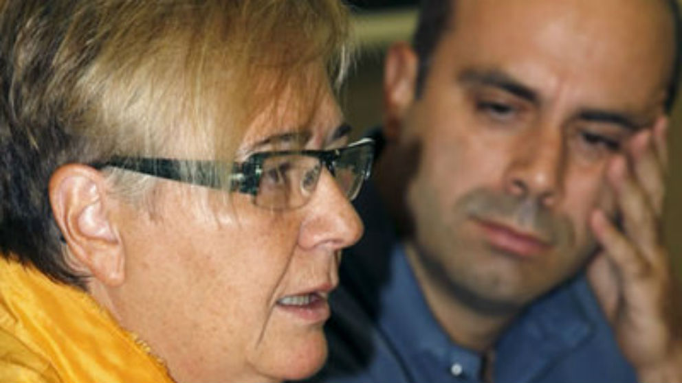 Carmen Gómez-Granell y Pau Marí-Klose, en rueda de prensa en 2008. (Foto: EFE)