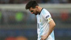 Leo Messi tras la eliminación de Argentina en la Copa América 2019. (Getty)
