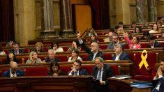Bancada independentista en el Parlamento de Cataluña. (EP)