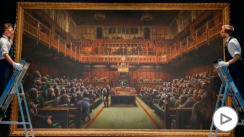 Cuadro de Banksy sobre el Parlamento británico.