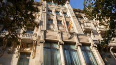 Consejería de Economía de la Generalitat, hoy, tras la retirada de los símbolos independentistas. (Ep)