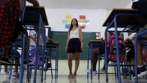 Aula del del colegio de Educación Infantil y Primaria 'Manuel Altolaguirre' de Málaga, en la apertura del curso escolar. (EP)