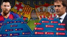 Barcelona y Sevilla se enfrentan en el Camp Nou.
