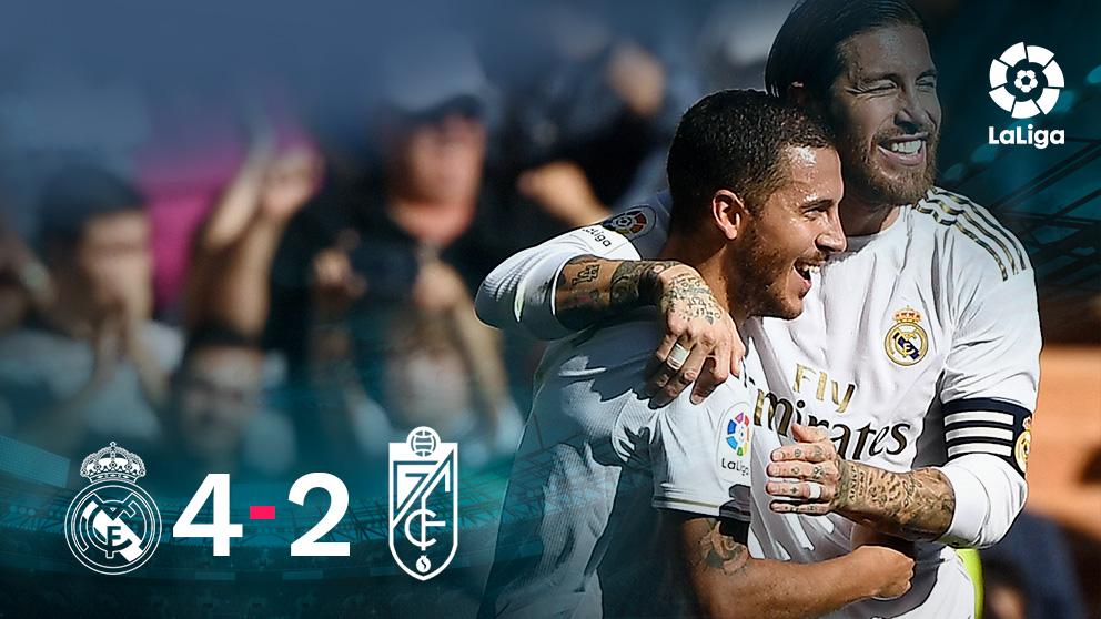 El Real Madrid se impuso 4-2 al Granada.