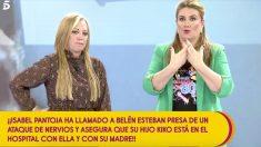 Belén Esteban habló con Isabel Pantoja en 'Sálvame'