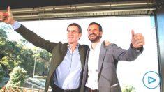 Feijóo y Casado este domingo en un acto en Galicia (Foto: EFE)