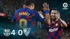 El Barcelona goleó 4-0 al Sevilla.