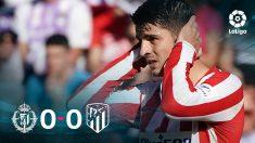 El Atlético empató a cero en Valladolid.