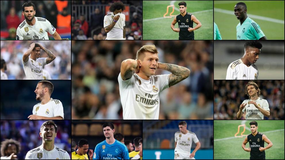 Trece jugadores del Real Madrid ya se han lesionado.