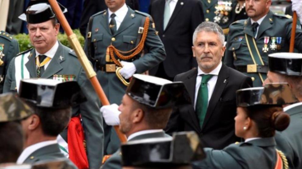 El ministro Grande-Marlaska durante un acto oficial de la Guardia Civil.