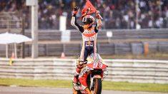 Marc Márquez se proclamó campeón del mundo en Tailandia. (AFP)