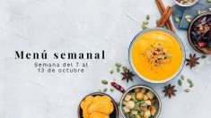 Menú semanal saludable: Semana del 7 al 13 de octubre de 2019