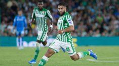 Nabil Fekir con el Betis ante el Getafe (AFP)