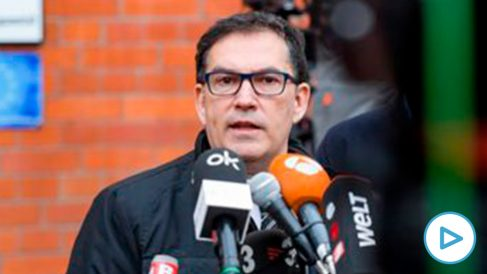 Jaume Alonso-Cuevillas, abogado de Carles Puigdemont. (Foto: AFP)