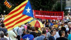 Manifestación en Barcelona convocada por la ANC en el segundo aniversario del 1-O. (Foto: EFE)