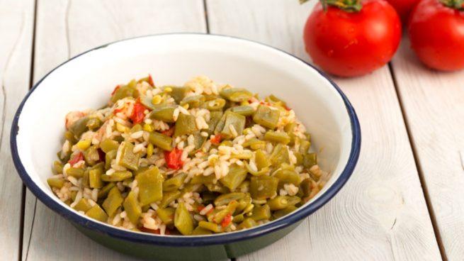 Receta de arroz con judías verdes, higos y pavo