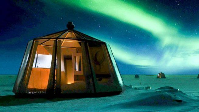 dormir en el Polo Norte