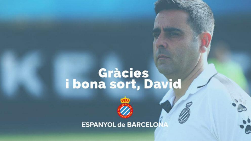 David Gallego deja de ser entrenador del Espanyol (@RCDEspanyol)