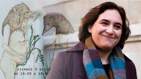Ada Colau y el cartel del taller