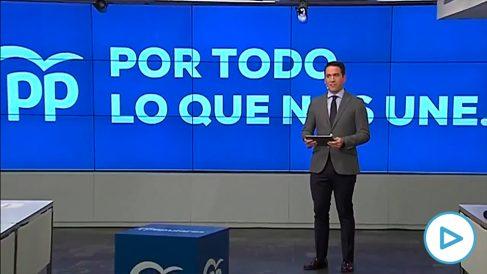 Teodoro García Egea presenta el lema de precampaña del PP: 'Por todo lo que nos une'.