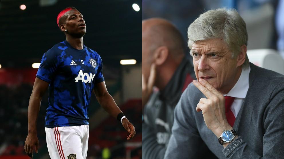 Paul Pogba y Arsène Wenger.