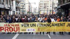 La manifestación separatista del año pasado convocada en Valencia con motivo del Día de la Comunidad Valenciana.