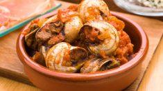 Receta de Caracoles con salsa de tomate