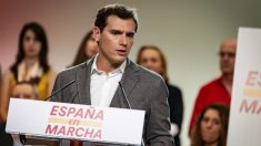Albert Rivera, en el acto del pasado sábado en el que levantó el veto a Sánchez. (Foto: Ciudadanos)