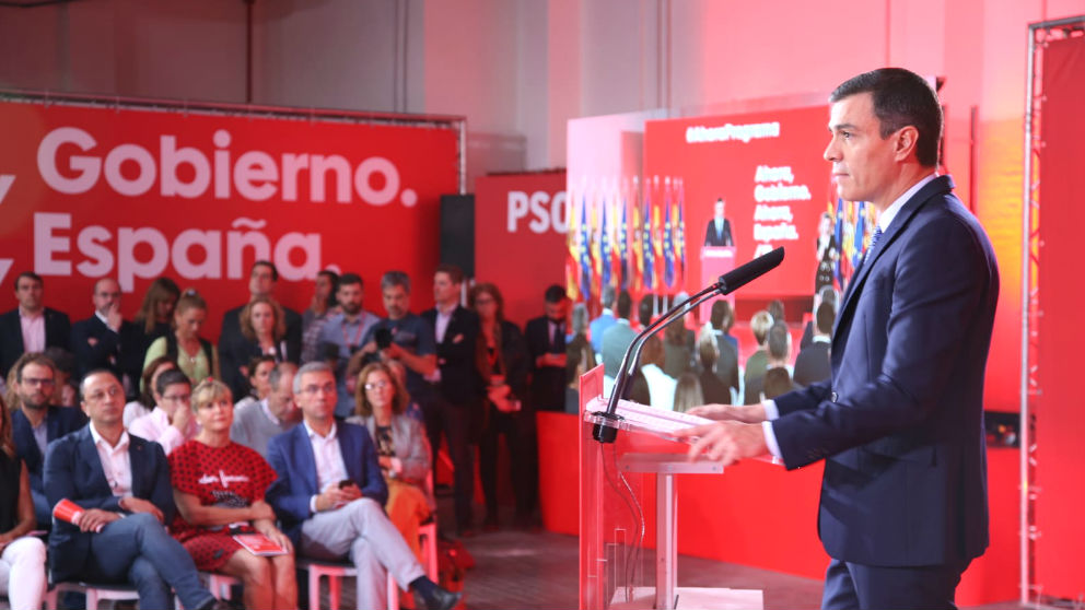 Pedro Sánchez presenta el programa del PSOE