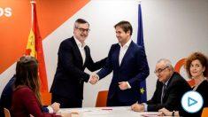 José Manuel Villegas, de Ciudadanos, y Cristiano Brown, de UPyD. (Ep)