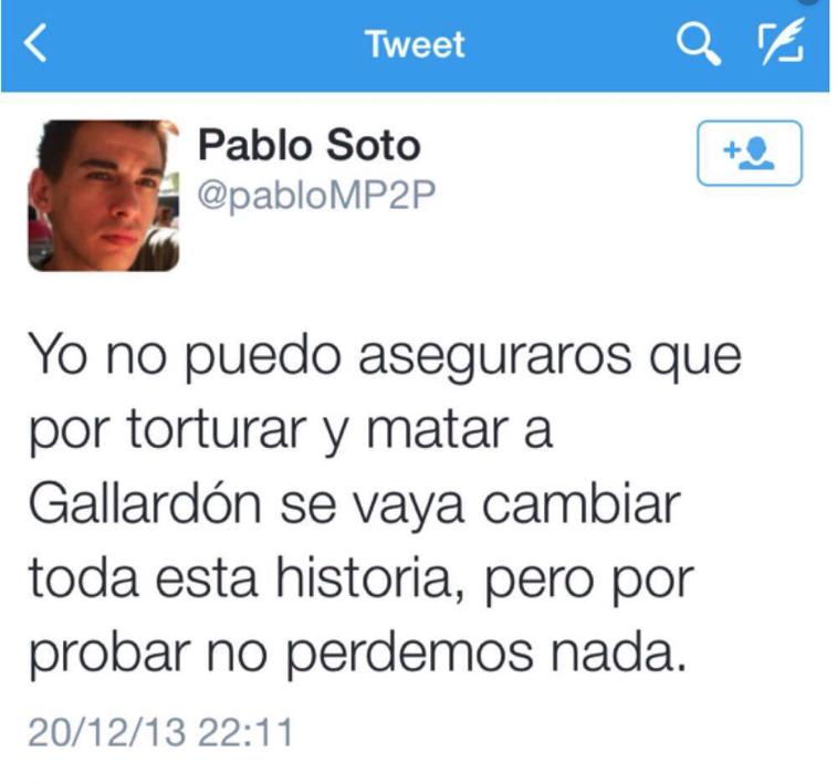 Pablo Soto pidió