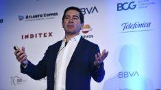 Carlos Torres Vila, presidente de BBVA, este martes en Madrid