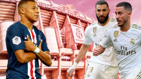 Hazard, Benzema y Mbappé, la delantera con la que sueña el Real Madrid.