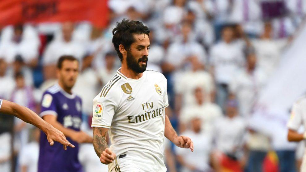 Isco, durante un partido del Real Madrid (AFP).