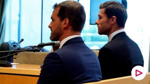 Xabi Alonso, durante el juicio celebrado este miércoles en Madrid. (EFE)
