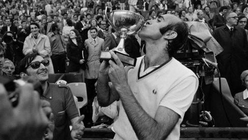 Andrés Gimeno, tras ganar el Open de Francia en París. (AFP)