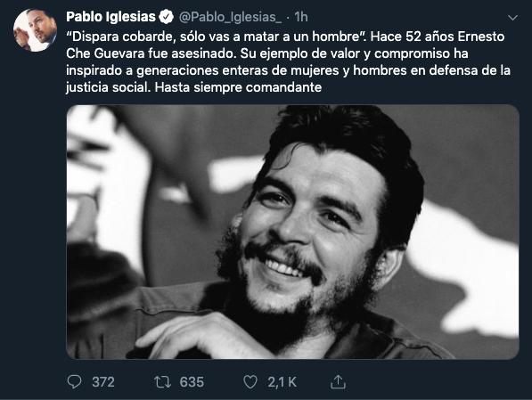 Las frases más repugnantes del homófobo Che Guevara: un modelo a seguir según Pablo Iglesias