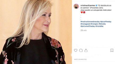 El mensaje que Cristina Cifuentes ha compartido en sus redes sociales horas antes de declarar en la Audiencia Nacional en el 'caso Púnica'