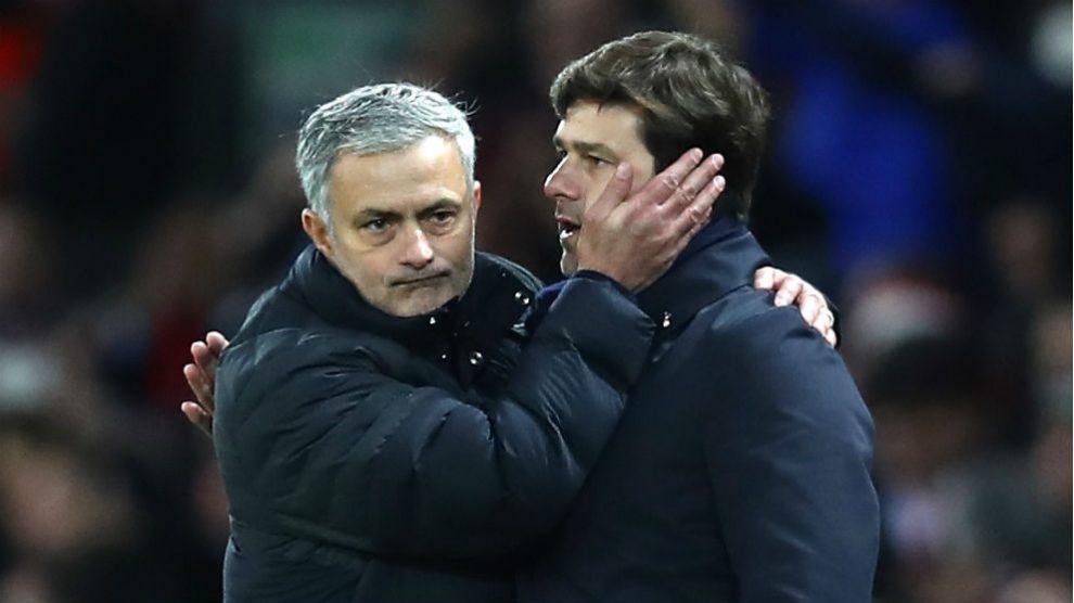 José Mourinho y Mauricio Pochettino. (Getty)