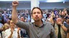 El líder de Podemos, Pablo Iglesias, durante un acto de precampaña en Madrid. (Foto: Efe)