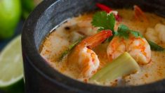 Receta de Gambas en salsa de coco