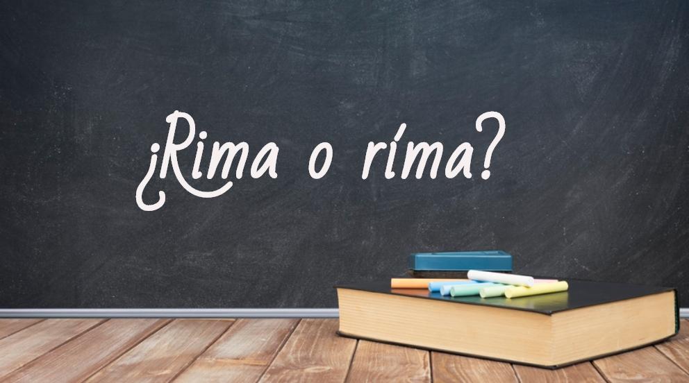 Se escribe rima o ríma